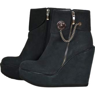 Cesare Paciotti Green Suede Ankle boots