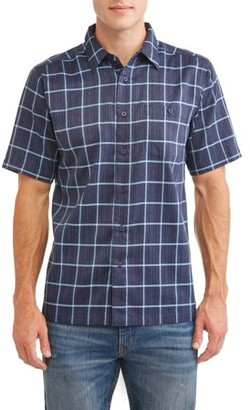 George Men's Short Sleeve Microfiber Shirt, up to size 5XL