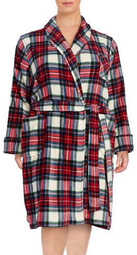 Lauren Ralph LaurenLauren Ralph Lauren Plus Fleece Printed Robe