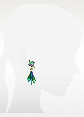 Erickson Beamon Aquarela do Brasil Crystals Clip On Earrings