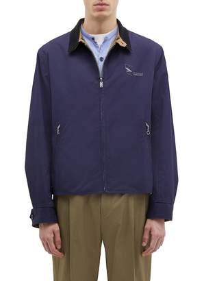 Lanvin Reversible shark logo print storm flap twill jacket