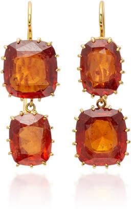 Renee Lewis 18K Gold Garnet Earrings