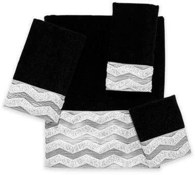 Avanti Chevron Galaxy Bath Towel in Black