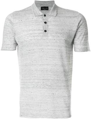 Roberto Collina raw edges polo shirt
