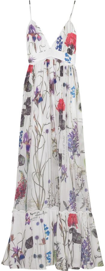 Roberto Cavalli Floral chiffon maxi dress