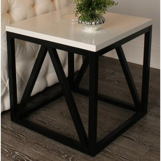 Red Barrel Studio Welty Wood Cube End Table Red Barrel Studio