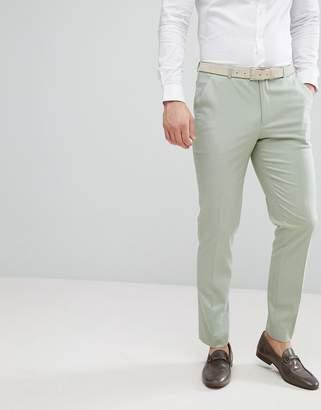 Asos Wedding Skinny Suit Pants In Sage Green