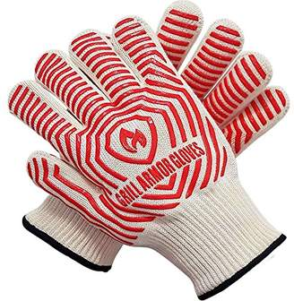 Grill Armor 932°F Extreme Heat Resistant Oven Gloves - EN407 Certified BBQ Gloves For Cooking