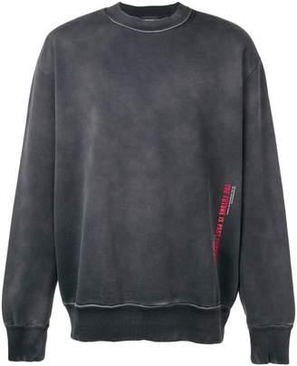 Diesel treated cotton sweatshirt