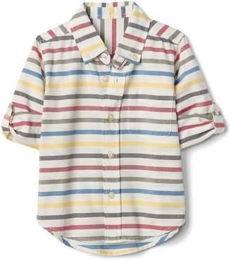 Gap Stripe Convertible Button-Down Shirt