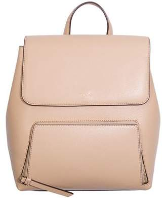 DKNY New Womens Taupe Bryant Park Saffiano Leather Handbag Backpacks