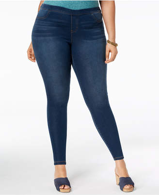 Style&Co. Style & Co Plus Size Pull-On Ultra-Skinny Denim Capris, Created for Macy's
