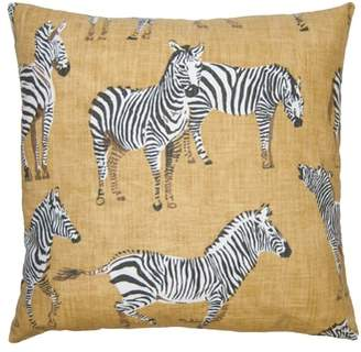Square Feathers Kingdom Zebra Accent Pillow
