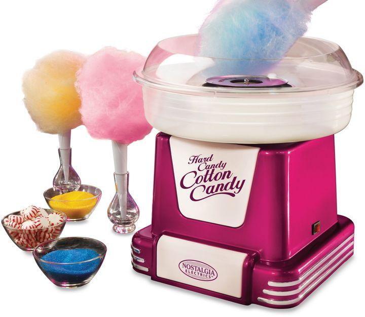 Nostalgia Electrics Retro Series Cotton Candy Maker in Raspberry