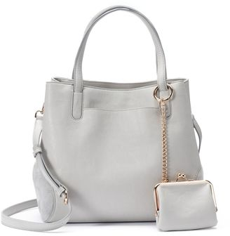 LC Lauren Conrad Lili Large Frame Tote with Coin Purse $89 thestylecure.com