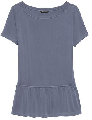 Banana Republic Sandwash Modal Blend Peplum T-Shirt