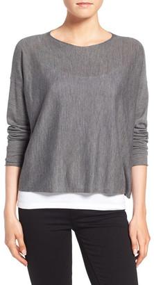Eileen Fisher Featherweight Merino Wool Sweater $258 thestylecure.com