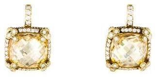 Judith Ripka 18K Canary Crystal & Diamond Drop Earrings