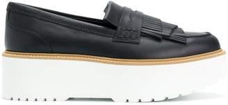 Hogan platform fringed loafers