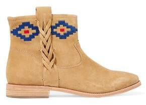 Soludos Embroidered Nubuck Ankle Boots