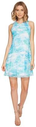 Calvin Klein Blurred Print Trapiz Dress Women's Dress