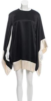 Alexander McQueen Silk Bell Sleeve Dress