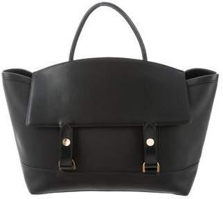 Sacai Leather Flap-Top Tote Bag