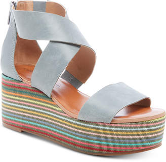 Lucky Brand Women Gwindolin Wedge Sandals Women Shoes