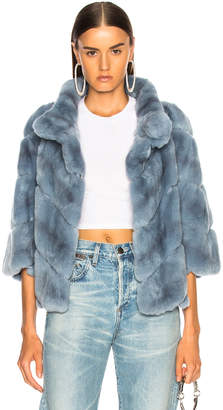 Yves Salomon Rex Rabbit Fur Jacket