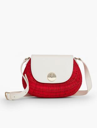 Woven Wicker Bag $149 thestylecure.com