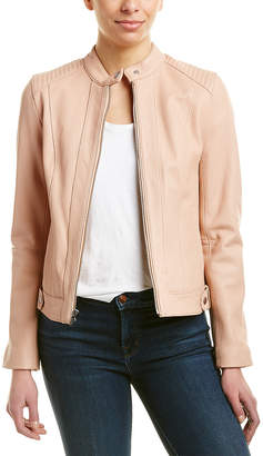 Cole Haan Pink Women S Leather Jackets On Sale Shopstyle