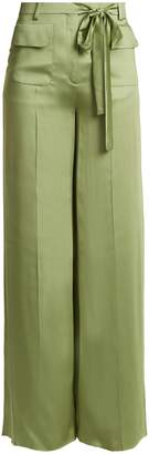 Valentino Silk-satin wide-leg trousers