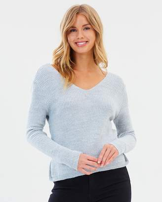 Miss Selfridge Wrap Back Knitted Jumper