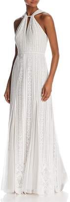 BCBGMAXAZRIA Sleeveless Lace Gown