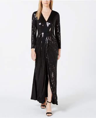 Calvin Klein Allover Sequin Gown