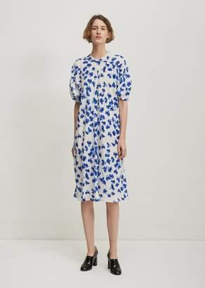 Lemaire Floral Midi Dress White Blue
