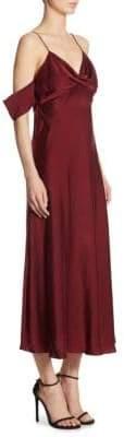 Zimmermann Silk Cold-Shoulder Dress