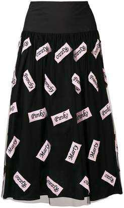Pinko pleated midi skirt