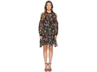 The Kooples Loose Birdy-Print Dress in Silk Women's Dress