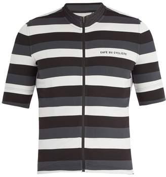 Café Du Cycliste - Francine Breton Zip Through Cycle Top - Mens - Black White