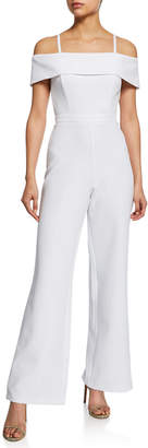 Laundry by Shelli Segal Off-the-Shoulder Wide Leg Jumpsuit
