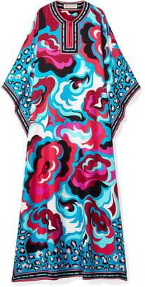 Emilio Pucci Printed Silk-satin Twill Kaftan - Pink