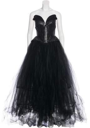 Rubin Singer Strapless Tulle Dress