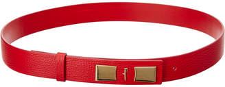 Salvatore Ferragamo Vara Essential Leather Belt