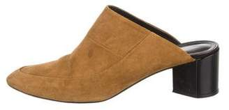 Pierre Hardy Suede Semi-Pointed Mules