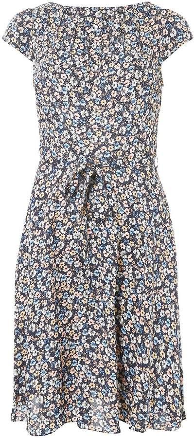 Billie & Blossom **Billie Blossom Multi Coloured Soft Belt Viscose Skater Dress
