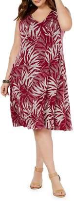 Style&Co. Style & Co. Plus Printed Sleeveless Shift Dress