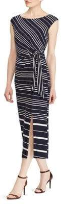 Lauren Ralph Lauren Striped Jersey Midi Dress