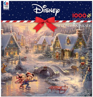 Disney Disney's Mickey Mouse & Minnie Mouse 1000-piece Christmas Puzzle & Poster Set by Ceaco