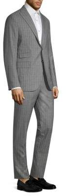 Eleventy Wool Pinstripe Suit Set